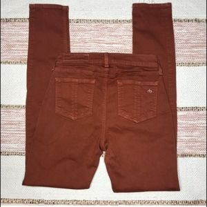 Rag & Bone Skinny Legging Jeans Burnt Orange Brown